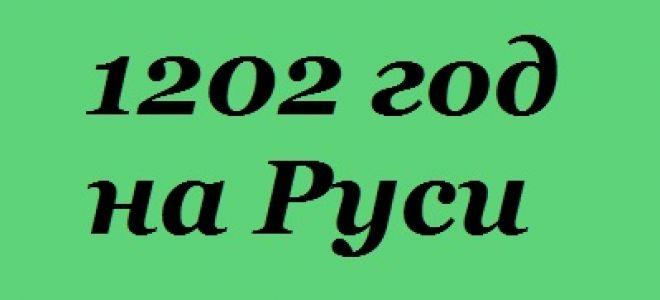 1202 год в истории Руси