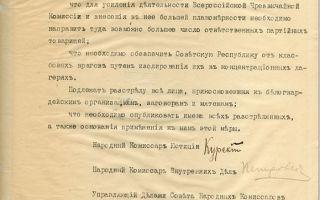 Объявление большевиками красного террора