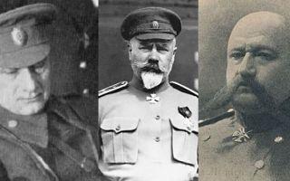Белое движение в годы Гражданской войны: лидеры, основные цели, причины поражения