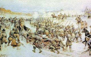 Восстание под руководством Болотникова (таблица)
